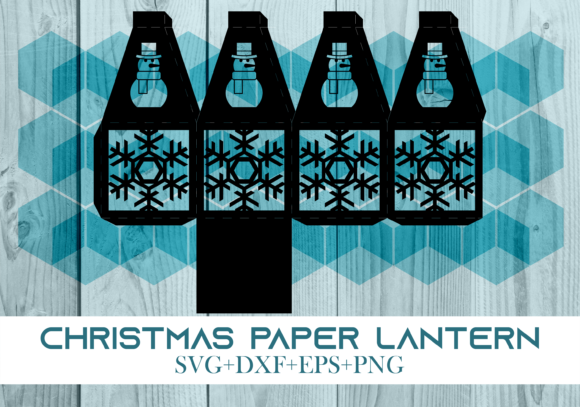 Print on Demand: Christmas Paper Lantern Series 0357 Graphic 3D Christmas By Cerescrafts