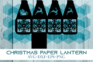 Print on Demand: Christmas Paper Lantern Series 0401 Graphic 3D SVG By Cerescrafts