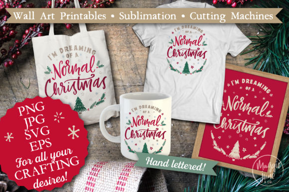 Christmas Sublimation Cricut & Printable Graphic Crafts By Maggie June