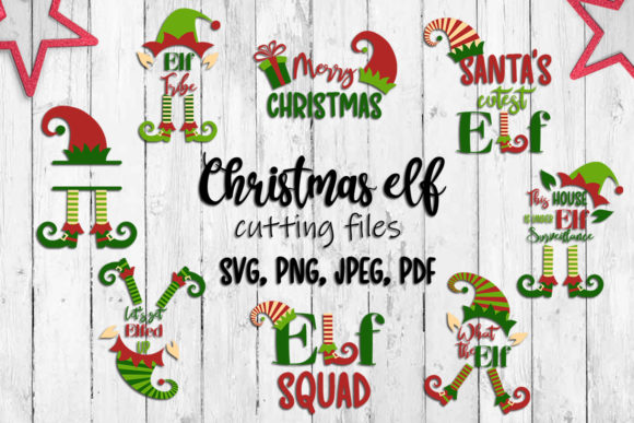 Christmas Elf Set. Svg Cutting Files. Graphic Crafts By inkoly.art
