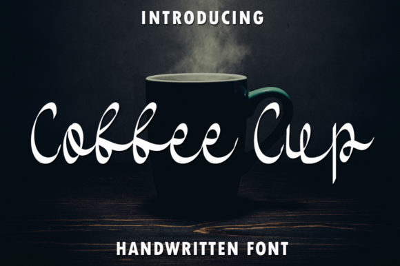 Print on Demand: Coffee Cup Script & Handwritten Font By rangkaiaksara