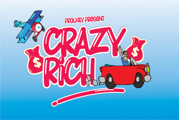 Print on Demand: Crazy Rich Display Font By creativework69