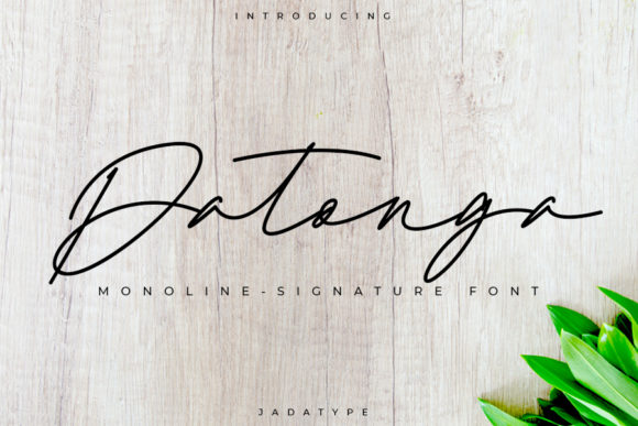 Print on Demand: Datonga Script & Handwritten Font By jadatype