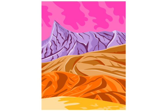 Print on Demand: Death Valley National Park in California Graphic Illustrations By patrimonio