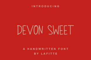 Print on Demand: Devon Sweet Script & Handwritten Font By lafitte 58