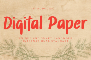 Print on Demand: Digital Paper Display Font By giartstudios