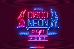 Print on Demand: Disco Neon Sign Sans Serif Font By Beast Designer
