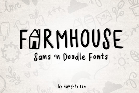 Print on Demand: Farmhouse Script & Handwritten Font By Naughty Pen
