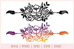 Floral Boarder, Text Divider Graphic Print Templates By CrazyCutDesigns