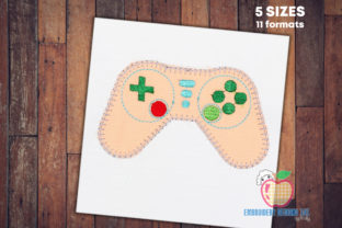 Game Remote Control Applique Pattern Toys & Games Embroidery Design By embroiderydesigns101