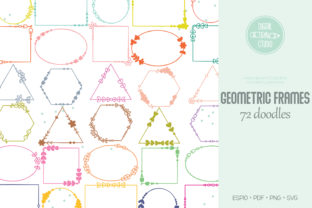 Geometric Frame Color, Decorative Border Graphic Crafts By Digital_Draw_Studio
