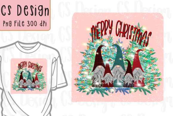 Print on Demand: Gnomes Family Christmas Sublimation. Graphic Crafts By CSDesign
