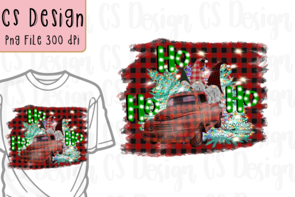 Print on Demand: Gnomes HO HO HO Christmas Sublimation. Graphic Crafts By CSDesign