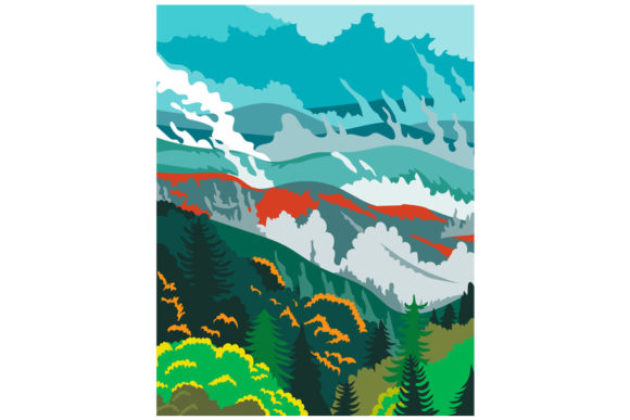 Print on Demand: Great Smoky Mountains National Park WPA Graphic Illustrations By patrimonio