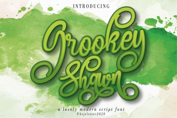 Print on Demand: Grookey Shawn Script & Handwritten Font By beje.letter