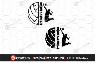 Half Volleyball, Volleyball Player Graphic Crafts By HiCrafters