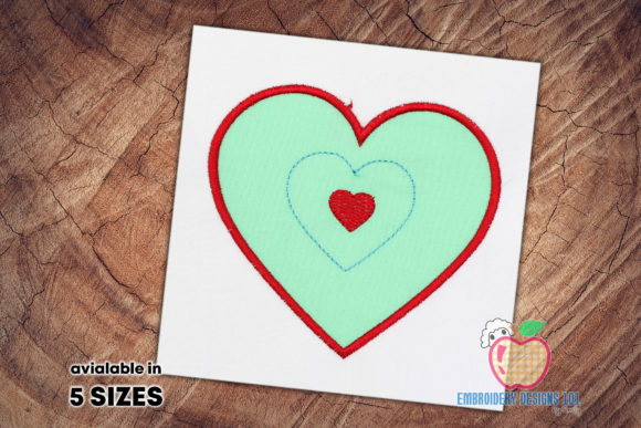 Hands with Heart Applique Valentine's Day Embroidery Design By embroiderydesigns101