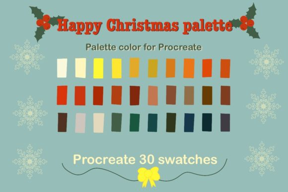 Happy Christmas Color Palettes Graphic Brushes By Aloe_wannaart