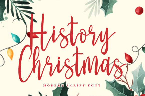 Print on Demand: History Christmas Script & Handwritten Font By Inermedia STUDIO