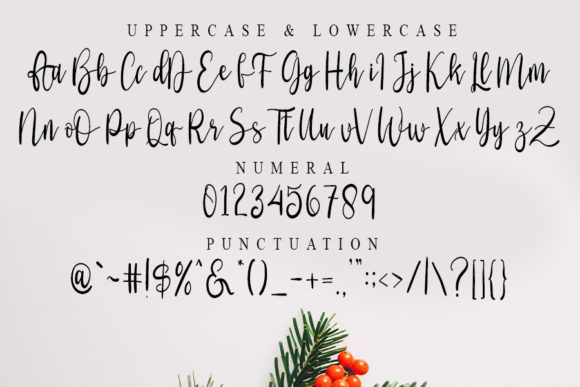 History Christmas Font Preview