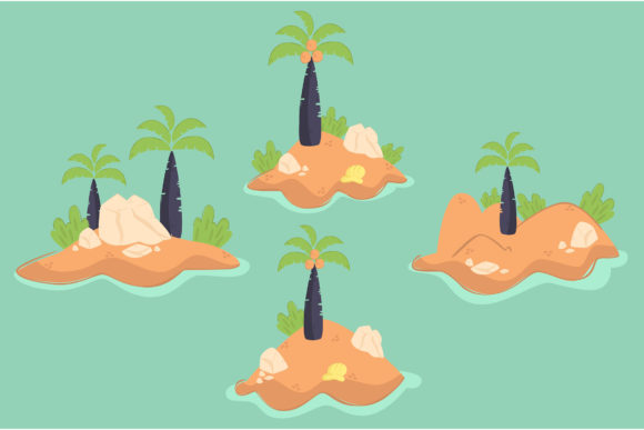 Island Illustration Design Graphic Illustrations By april_arts