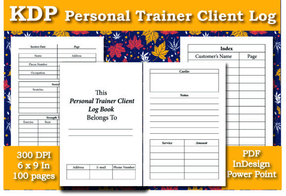 Print on Demand: KDP Personal Trainer Client Log Book Graphic KDP Interiors By Ivana Prue