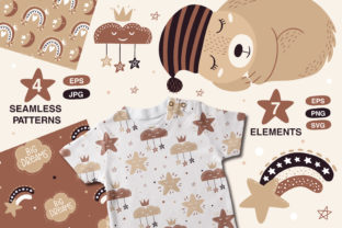 Print on Demand: Kids Animals Clipart and Pattern Graphic Patterns By FindsArtDesign