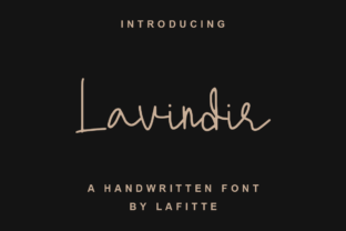 Print on Demand: Lavindir Script & Handwritten Font By lafitte 58