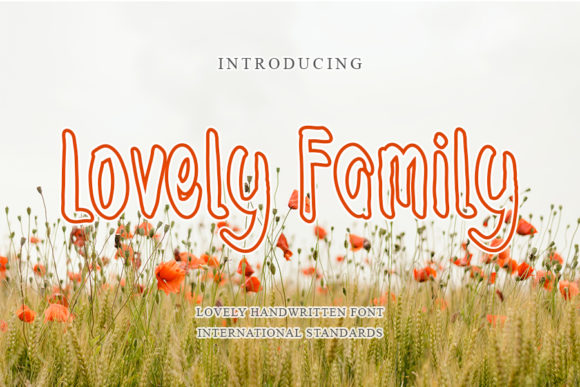 Print on Demand: Lovely Family Display Font By mizanstudio