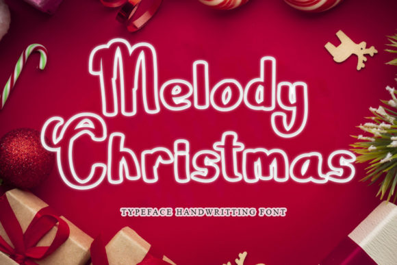 Print on Demand: Melody Christmas Display Font By mizanstudio