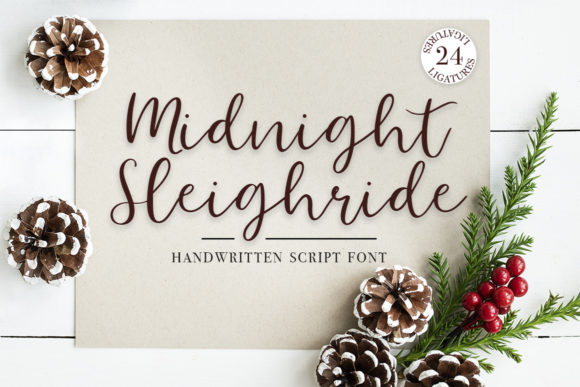 Print on Demand: Midnight Sleighride Script & Handwritten Font By Masha Artifex