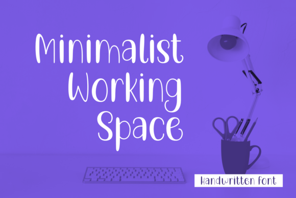 Print on Demand: Minimalist Working Space Script & Handwritten Font By Lian-7NTypes