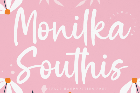 Print on Demand: Monilka Southis Script & Handwritten Font By Creativewhitee
