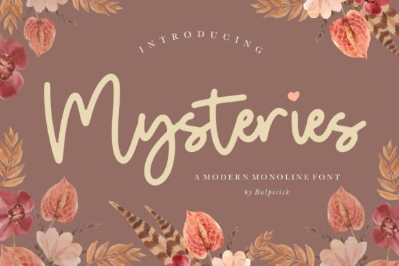 Print on Demand: Mysteries Script & Handwritten Font By Balpirick