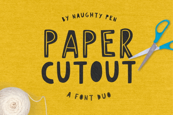 Print on Demand: Paper Cutout Display Font By Naughty Pen