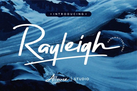 Print on Demand: Rayleigh Script & Handwritten Font By allouse.studio