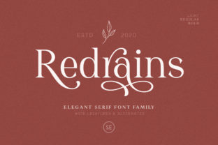 Print on Demand: Redrains Serif Font By saridezra