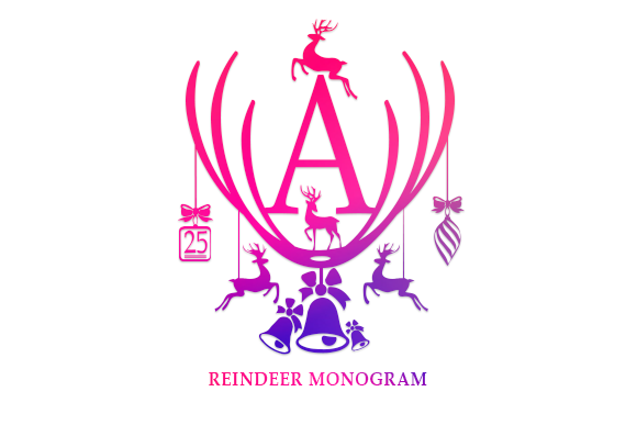 Print on Demand: Reindeer Monogram Decorative Font By utopiabrand19