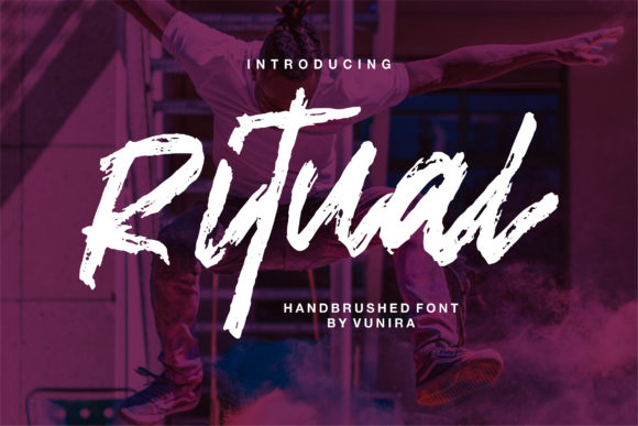 Print on Demand: Ritual Display Font By Vunira