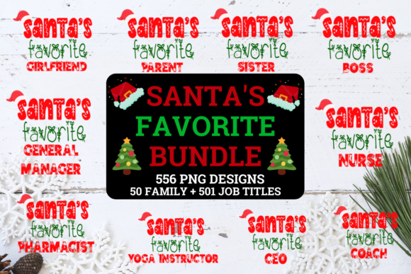 Print on Demand: Santa's Favorite Christmas Bundle Graphic Crafts By Love It Mirrored