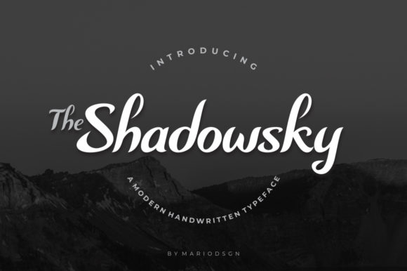 Print on Demand: Shadowsky Script & Handwritten Font By MarioDsgn