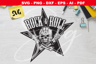 Print on Demand: Skull Hands Rock 'n Roll  Graphic Crafts By Novart