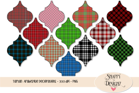 Tartan Arabesque Decorations Graphic Objects By Snappyscrappy