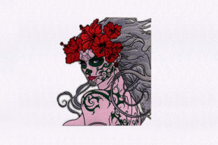 Tattoo with Woman Toys & Games Embroidery Design By DigitEMB