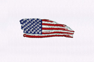 USA Flag Independence Day Embroidery Design By DigitEMB