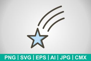 Print on Demand: Vector Falling Star Icon Graphic Icons By IYIKON