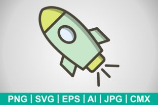 Print on Demand: Vector Space Ship Icon Graphic Icons By IYIKON