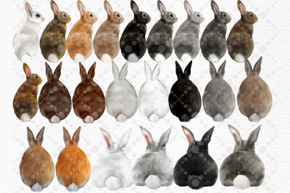 Watercolor Bunny Clipart Rabbit Png Kids Graphic Download