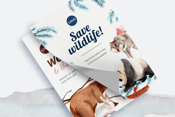 Winter Animals Watercolor Collection Graphic Graphic