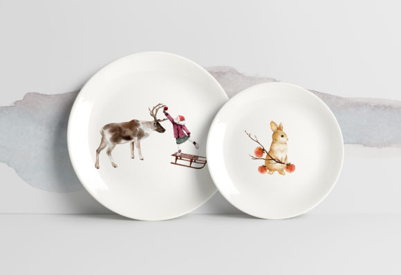 Winter Animals Watercolor Collection Graphic Item